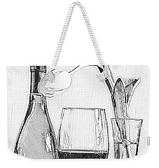 Reserved Table For One In Black And White Weekender Tote Bag