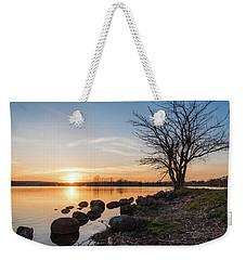 Reservoir Sunset Weekender Tote Bag
