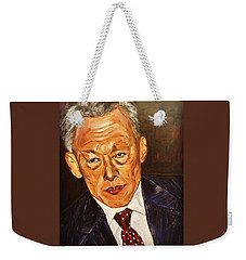 Weekender Tote Bag featuring the painting Respect II by Belinda Low