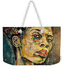 Respect Mixed Media Weekender Tote Bag