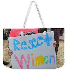 Respect Women Always Weekender Tote Bag
