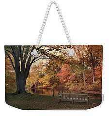 Weekender Tote Bag featuring the photograph Respite River by Jessica Jenney
