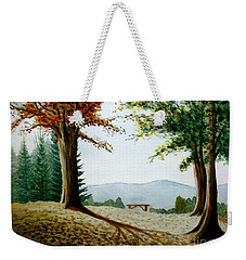 Weekender Tote Bag featuring the painting Rest Area by Stacy C Bottoms