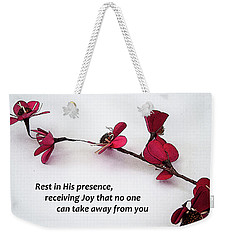 Rest In His Presence Weekender Tote Bag