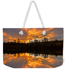 Weekender Tote Bag featuring the photograph Rest In His Righteousness by Rose-Maries Pictures