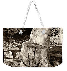 Weekender Tote Bag featuring the photograph Rest Stop by Vinnie Oakes