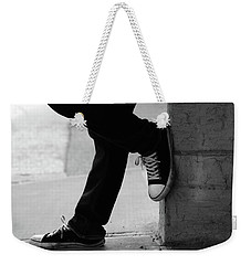 Weekender Tote Bag featuring the photograph Rest Then Tackle  by Empty Wall