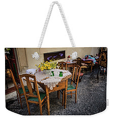 Restaurant In Sicily  Weekender Tote Bag