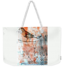 Weekender Tote Bag featuring the mixed media Restful Moment by Rose Legge