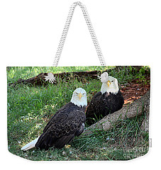 Resting Bald Eagles Weekender Tote Bag
