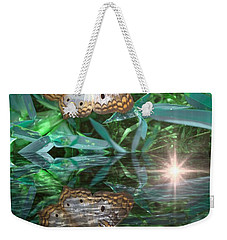 Resting On River's Edge Weekender Tote Bag