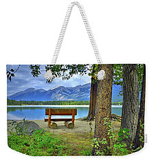 Weekender Tote Bag featuring the photograph Resting Place At Lake Annette by Tara Turner