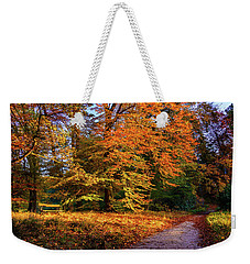 Resting Place In An Autumn Park Weekender Tote Bag