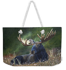 Weekender Tote Bag featuring the painting Resting by Tracey Goodwin