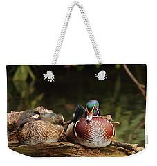 Resting Wood Ducks Weekender Tote Bag