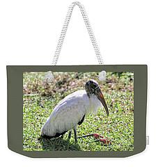 Resting Wood Stork Weekender Tote Bag by Carol Groenen