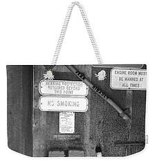 Restricted Area Weekender Tote Bag
