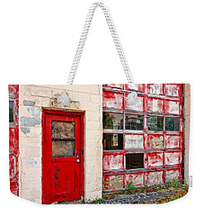 Weekender Tote Bag featuring the photograph Retired Garage by Christopher Holmes