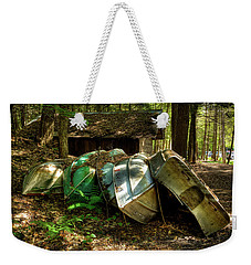 Weekender Tote Bag featuring the photograph Retired Rowboats by David Patterson