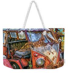Retired Vw Bus Weekender Tote Bag