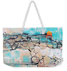 Weekender Tote Bag featuring the painting Retreat by Mary Schiros