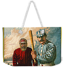 Retro Baseball Game Ad 1885 B Weekender Tote Bag