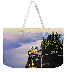 Retro Beautiful Bc Travel Poster Weekender Tote Bag