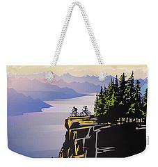 Retro Beautiful Bc Travel Poster Weekender Tote Bag by Sassan Filsoof