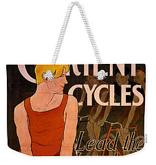Weekender Tote Bag featuring the photograph Retro Bicycle Ad 1890 by Padre Art