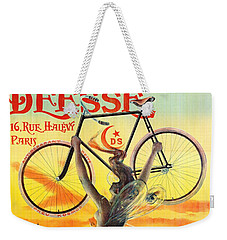 Weekender Tote Bag featuring the photograph Retro Bicycle Ad 1898 by Padre Art