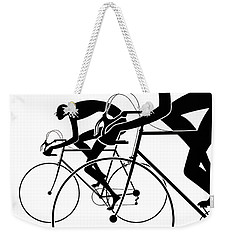 Weekender Tote Bag featuring the photograph Retro Bicycle Silhouettes 2 1986 by Padre Art