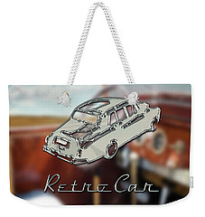 Retro Car Weekender Tote Bag by La Reve Design