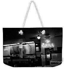 Retro Diner In Athens, Georgia -black And White Weekender Tote Bag