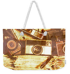 Retro Film Cameras Weekender Tote Bag