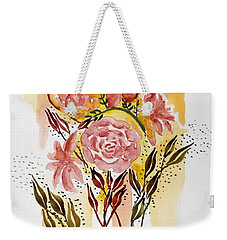 Retro Florals Weekender Tote Bag by Carol Crisafi