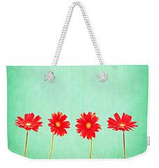 Retro Flowers Weekender Tote Bag
