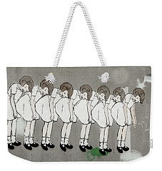 Weekender Tote Bag featuring the photograph Retro Girl by Art Block Collections