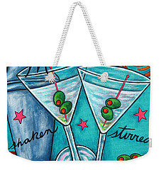 Retro Martini Weekender Tote Bag by Lisa  Lorenz