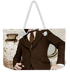 Weekender Tote Bag featuring the photograph Retro Nobel Man by Jorgo Photography - Wall Art Gallery