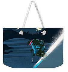 Retro Revelstoke Ski Poster Weekender Tote Bag by Sassan Filsoof