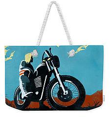 Retro Scrambler Motorbike Weekender Tote Bag
