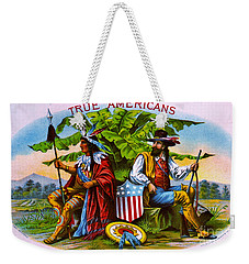 Weekender Tote Bag featuring the photograph Retro Tobacco 1885 by Padre Art