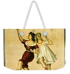 Weekender Tote Bag featuring the photograph Retro Tobacco Label 1869 F by Padre Art