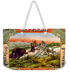 Weekender Tote Bag featuring the photograph Retro Tobacco Label 1872 D by Padre Art