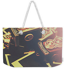 Retro Twin Lens Reflex Cameras Weekender Tote Bag