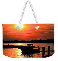 Return At Sunset Weekender Tote Bag