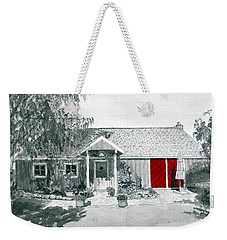 Retzlaff Winery With Red Door No. 2 Weekender Tote Bag by Mike Robles