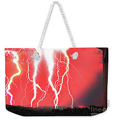 Lightning Apocalypse Weekender Tote Bag
