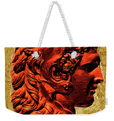 Weekender Tote Bag featuring the painting Reverse Profile Of Alexander by Troy Caperton