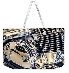 Weekender Tote Bag featuring the photograph Revved by Todd Blanchard